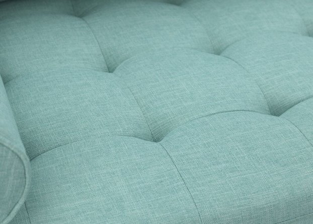 Arthur 3 Piece Set, Tweed Loveseat & Pair Of Armchair Mint Green/Blue