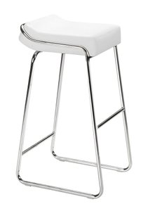 Wedge Bar Stool White (Set Of 2)