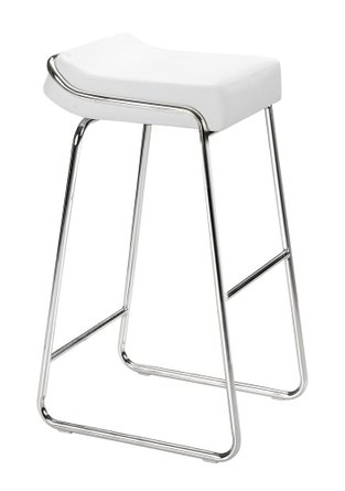 Wedge Bar Stool White