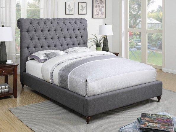 Devon Upholstered Queen Bed Gray