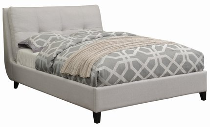 Amador Upholstered Platform Full Bed Ivory