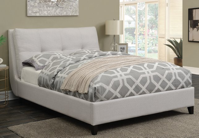 Amador Upholstered Platform Full Bed Ivory