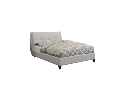 Amador Upholstered Platform Queen Bed Ivory