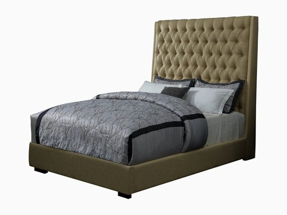 Camille Upholstered California King Bed Cream