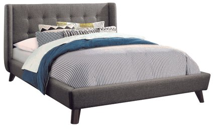 Carrington Upholstered Full Bed Gray
