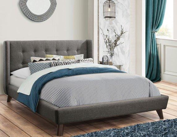 Carrington Upholstered Full Bed Gray