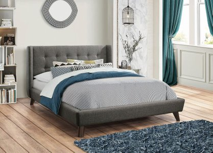 Carrington Upholstered Queen Bed Gray