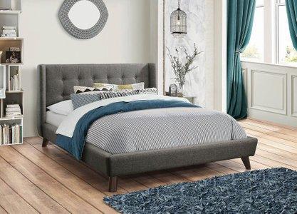 Carrington Upholstered King Bed Gray