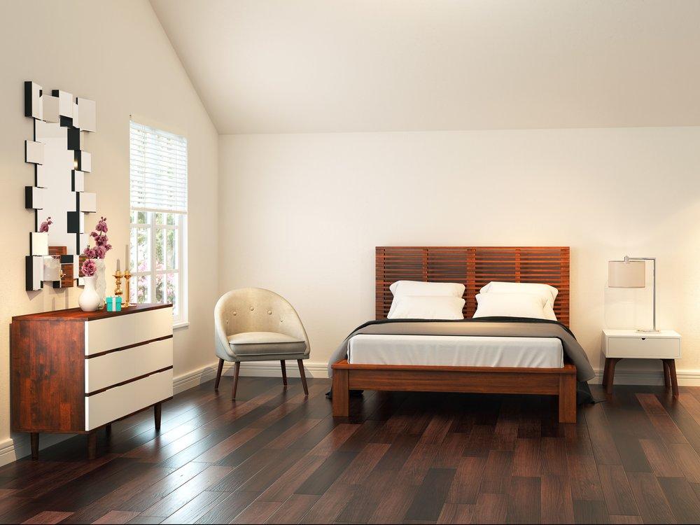 Stark Contemporary Bedroom