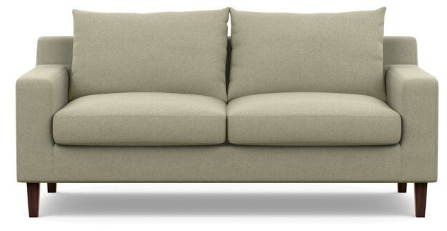 "Interior Define Sloan Apartment Sofa 63"" Almond"