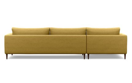 Asher Left Extended Sectional Sofa Ochre