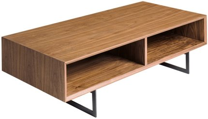 "Anderson 48"" Coffee Table Walnut & Dark Gray"