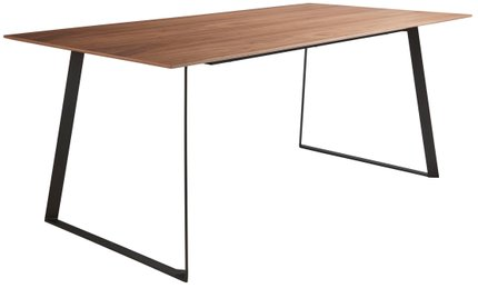 "Anderson 71"" Rectangular Dining Table Walnut & Black"