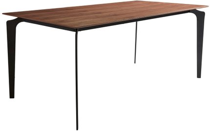 "Brighton 71"" Rectangular Dining Table Walnut & Black"