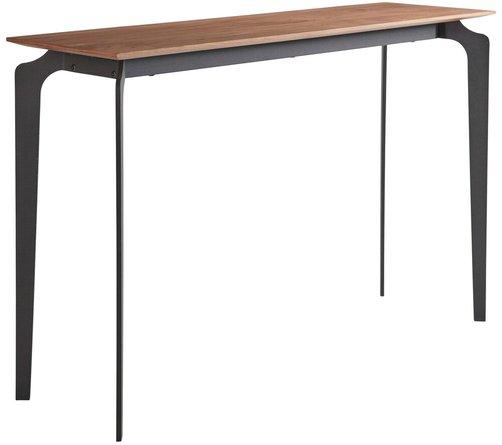 """Brighton 48"""" Console Table Walnut & Black"""