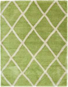 Opulence Trellis Shag Rug Light Green 10' x 13'