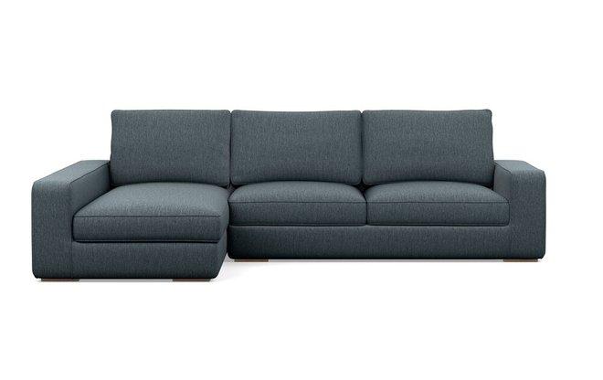Interior Define Ainsley Left Extended Sectional Sofa Rain