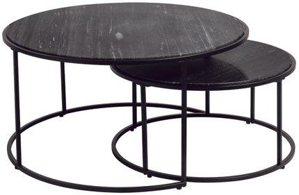 Alrik Nesting Table Black (Set of 2)