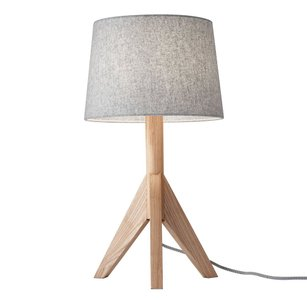 Eden Table Lamp Gray And Natural