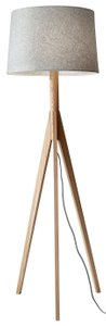 Eden Floor Lamp Gray And Natural