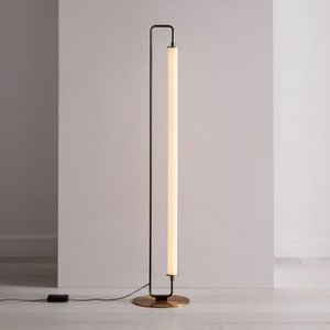 West Elm Linear Metal Led Floor Lamp  Burnished Bronze