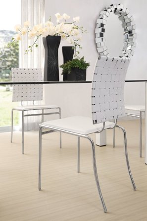 Criss Cross Dining Chair White (Set of 4 Units)