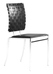 Criss Cross Dining Chair Black (Set of 4)