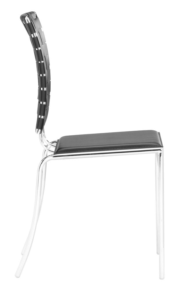 Criss Cross Dining Chair Black ( Set of 4 Units )
