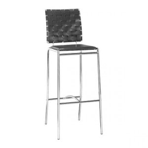 Criss Cross Barstool Black