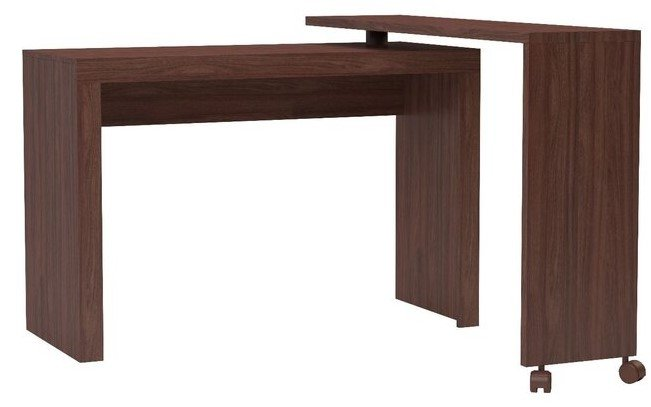 Calabria Swivel Nested Desk Nut Brown