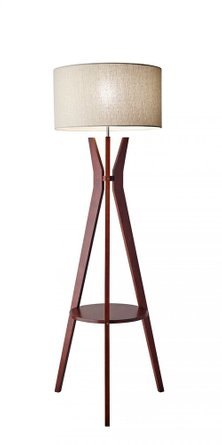 Bedford Shelf Floor Lamp Walnut