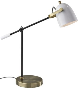 Casey Desk Lamp White And Black
