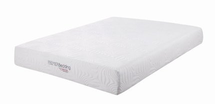 "Key Memory Foam Twin Mattress 10"" White"