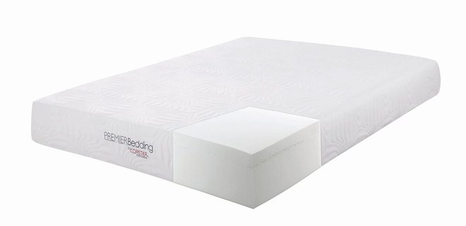 "Key Memory Foam Eastern King Mattress 10"" White"