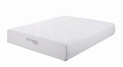 "Ian Memory Foam Eastern King Mattress 12"" White"