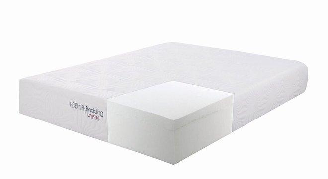 """Ian Memory Foam California King Mattress 12"""" White"""