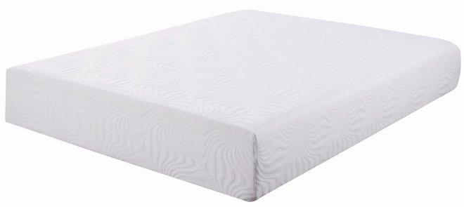 "Ian Memory Foam Queen Mattress 12"" White"