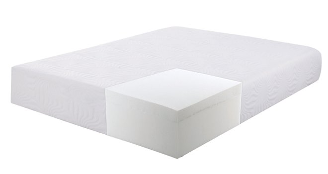 "Ian Memory Foam Queen Mattress 12"" White"