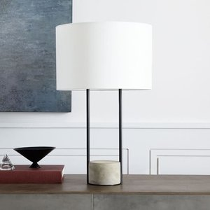 West Elm Industrial Outline Table Lamp White