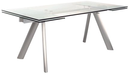 "Delano 102"" Rectangle Extension Dining Table Clear"