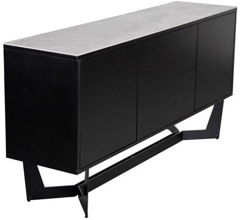 "Mateo 63"" Sideboard Ash Gray & Black"