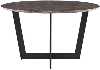 "Quade 51"" Dining Table Brown & Black"