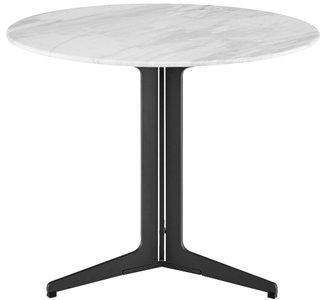 "Ramili 24"" Round Side Table White & Matte Dark Gray"