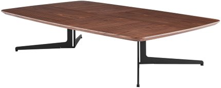"Ramili 51"" Rectangular Coffee Table Walnut & Matte Dark Gray"