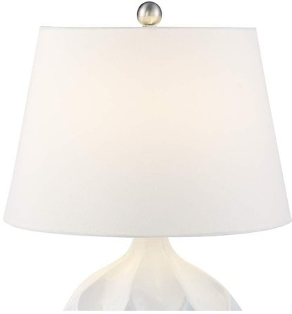 Dobbs Accent Table Lamp White & Ivory