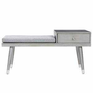 Elba Bench With Drawer Gray