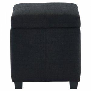 Juno Storage Ottoman Black