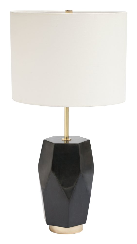 Melrose Table Lamp White & Black