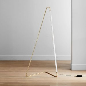 West Elm Line Art Floor Lamp Antique Brass