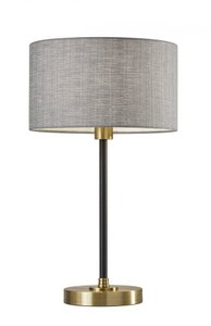 Bergen Table Lamp Black Antique Brass